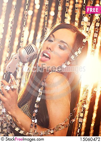Free Singer On The Stage Stock Photography - 15060472