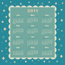Vector Of 2011 Year Calendar Stock Images