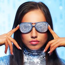 Free Woman In Stylish Sunglasses Stock Image - 15060401