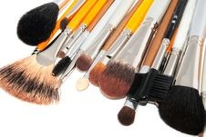 Free Brushes For Make-up Stock Images - 15060954
