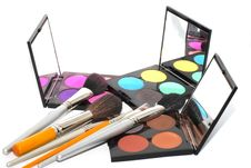 Free Palette For Make-up Stock Images - 15061064