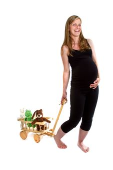 Fresh Pregnant  Woman Stock Photos