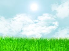 Free Meadow With Grass And Clouds Stock Photo - 15062790