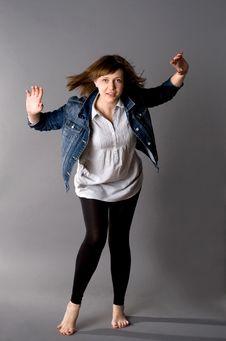 Free Woman Dancing In Studio Royalty Free Stock Images - 15062999