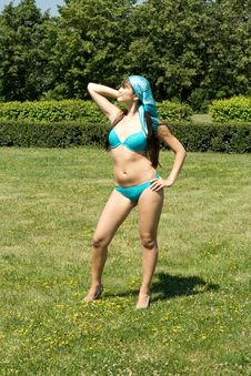 Free Girl In Bikini Sunbathing Royalty Free Stock Photos - 15063138