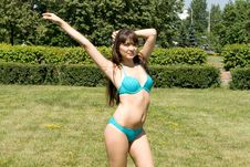 Free Girl In Bikini Sunbathing Royalty Free Stock Photography - 15063207