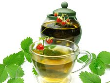 Free Herbal Tea With Wild Strawberry Stock Images - 15063514