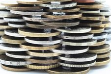Heap Of Different Metal Coins Stock Image