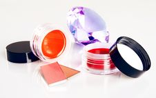 Free Cosmetics With A Crystal Royalty Free Stock Photos - 15063728