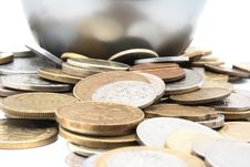 Heap Of Different Metal Coins Royalty Free Stock Image