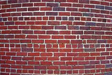 Free Curved Brick Wall Background Royalty Free Stock Images - 15064569