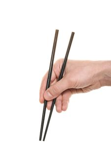 Free Hand With A Chopsticks Stock Image - 15064741