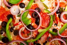 Free Pizza With Vegetables And Pepperoni Stock Photo - 15065230