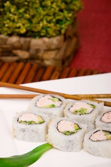 Free California Rolls Royalty Free Stock Photography - 15065457