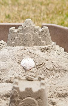 Summer Sand Castle Royalty Free Stock Image