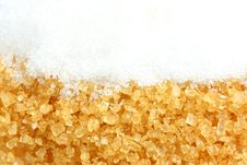 Free Crystalline Sugar And Granulated Sugar Royalty Free Stock Image - 15065706