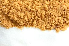 Free Brown Suger And Granulated Sugar Royalty Free Stock Photo - 15066445