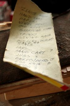 Free Old Shopping List Stock Photos - 15066453