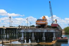 Free Bridge Construction Stock Image - 15066811