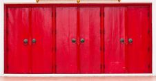 Free Triple Red Doors Royalty Free Stock Photo - 15066825
