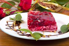 Sweet Raspberry And Strawberries Dessert Royalty Free Stock Image