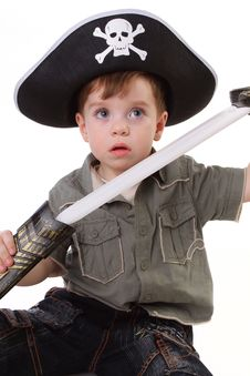 Free Young Boy Dressed As A Pirate. Stock Images - 15067304