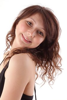 Portrait Of Happy Smiling Beautiful Woman Stock Images