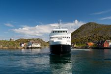 Free Ferry In A Fjord Royalty Free Stock Photos - 15067698