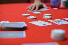 Free Poker Game Is Begining Royalty Free Stock Photography - 15067767