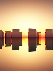 Free Abstract Rectangle Sunset Royalty Free Stock Photos - 15068188