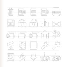 Free 25 Detailed Internet Icons Royalty Free Stock Photos - 15068408