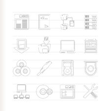 Free Server Side Computer Icons Royalty Free Stock Images - 15068409