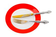 Free Plate, Knife And Fork Royalty Free Stock Photos - 15068908
