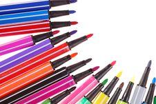 Free Color Pen Royalty Free Stock Photos - 15069528