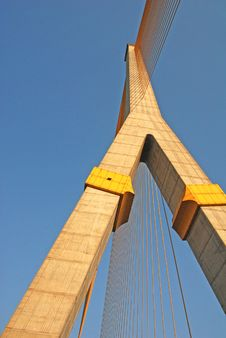 Rama 8 Bridge. Stock Image
