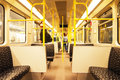 Free Seats In Subway Train Stock Image - 15078601