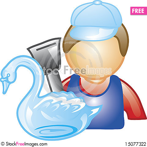 Free Ice Sculptor Icon Stock Photography - 15077322