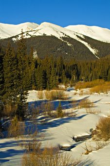 Free Winter Scene In Colorados Front Range Royalty Free Stock Photos - 15070068