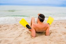 Free Beach Flippers Stock Photos - 15070593