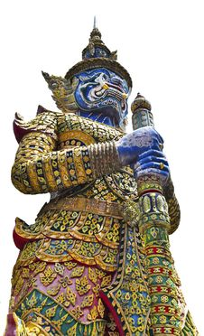 Free Thai Golden Demon Warrior Isolated ,Thailand Stock Photo - 15071250