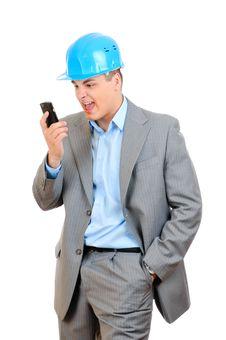 Free Angry Engineer Stock Photography - 15071312