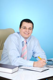 Businessman At Work Royalty Free Stock Photos