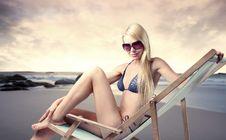 Free Sunbathing Stock Photography - 15071512