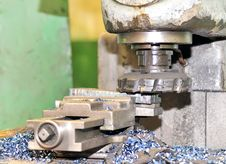 Free Turning Lathe In Action Royalty Free Stock Image - 15071686