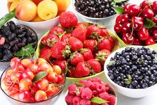 Free Summer Wealth. Variety Of Berries. Stock Image - 15071701