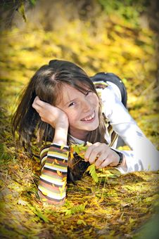Portrait Of A Smiling Girl Royalty Free Stock Images