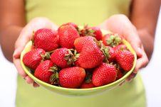 Crockery With Cherries Royalty Free Stock Photos