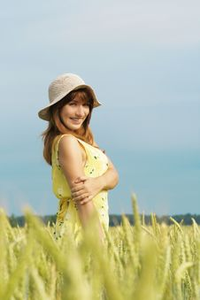 Free Model Smiling In Field Royalty Free Stock Photo - 15072065
