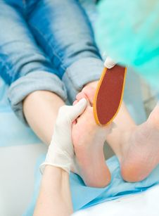 Body Care: Pedicure Royalty Free Stock Photography