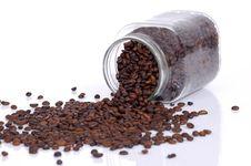 Coffee Bean Inside Glass Jar Stock Photography